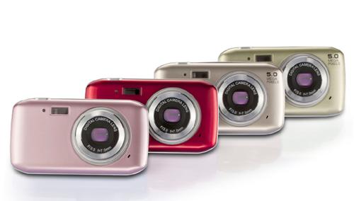 轻巧时尚,炫丽、淡雅相结合的礼品数码相机